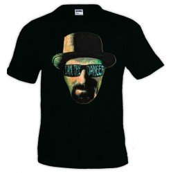 Camiseta Breaking Bad i am the danger de manga corta - Heisenberg