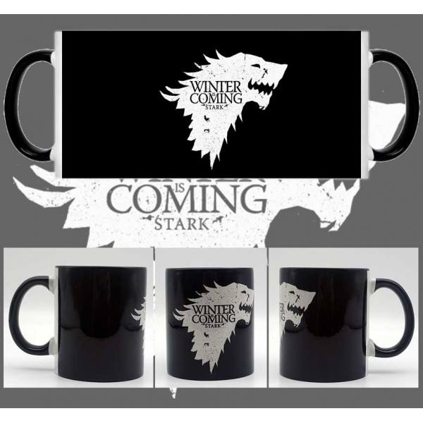 Taza Juego de Tronos Stark - Winter is Coming