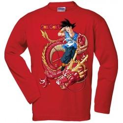 Camiseta Dragon Ball - Goku - Dragon Senronz rojo manga larga roja