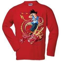Camiseta Dragon Ball - Goku - Dragon Senronz rojo manga larga roja