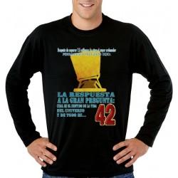 Guia del autoestopista Galactico, camiseta manga larga - Pensamiento Profundo