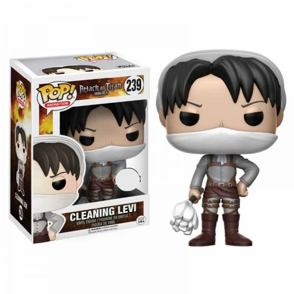 Figura Funko Pop Cleaning Levi Attack on Titan - Exclusiva