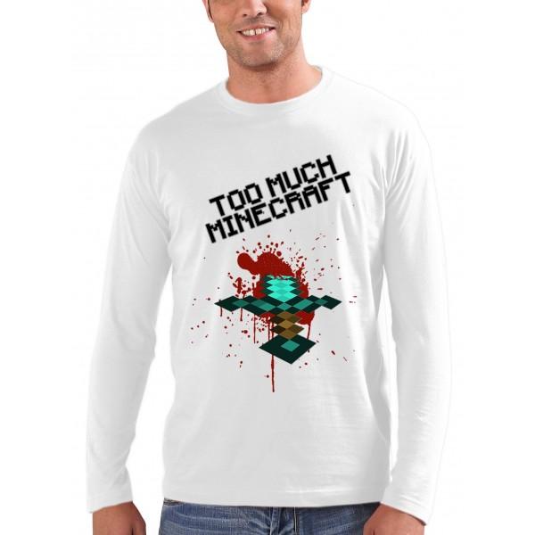 Camiseta Minecraft too much - Espada Minecraft