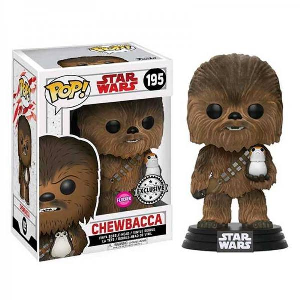 Chewbacca con Porg Flocked Funko Pop Star Wars Espisodio VIII - Exclusivo