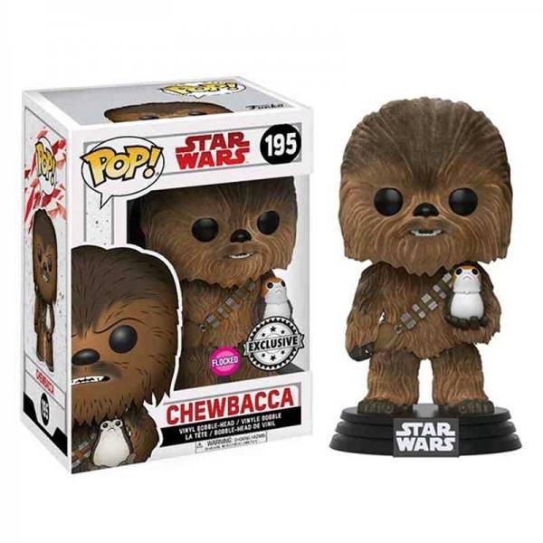 Chewbacca con Porg Flocked Funko Pop Star Wars Espisodio VIII - Exclusivo