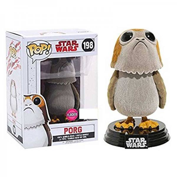 Star Wars Episodio VIII Figura Funko Pop Porg Flocked - Exclusiva