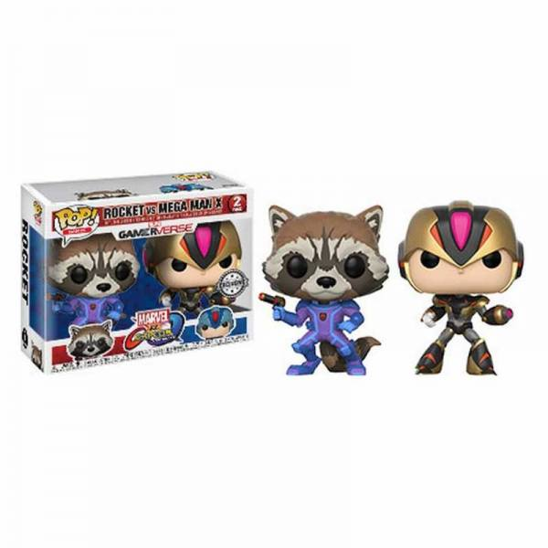 Pack Figuras Funko Pop Rocket Vs Mega Man X - Exclusivo