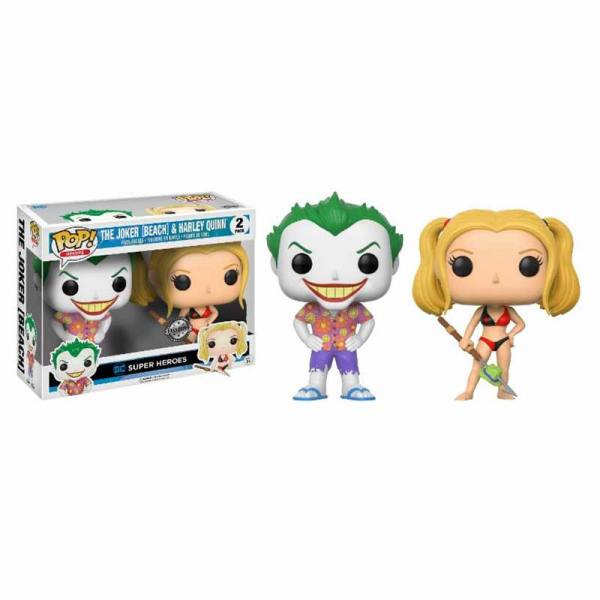Pack Figuras Funko Pop Joker Beach y Harley Quinn - Exclusivo