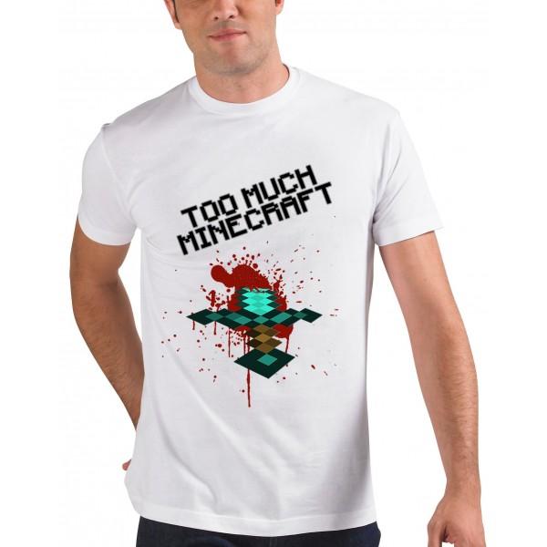 Camiseta Minecraft too much
