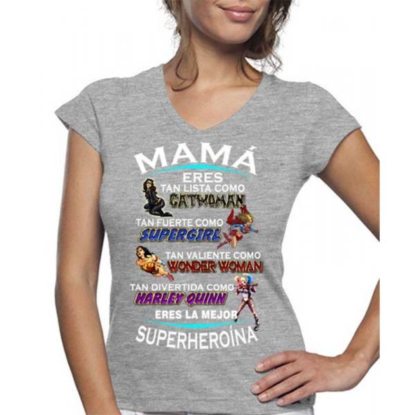 Camiseta Día de la Madre Superheroína
