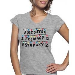 Camiseta de Mujer Luces Stranger Things