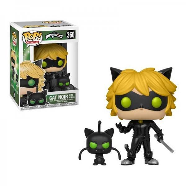 Figura Pop Miraculous Cat Noir With Plagg