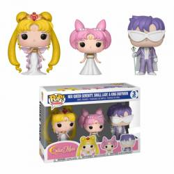 Sailor Moon - Funko Pop Reina Serenity, Pequeña Dama , Rey Endymion - Exclusivo