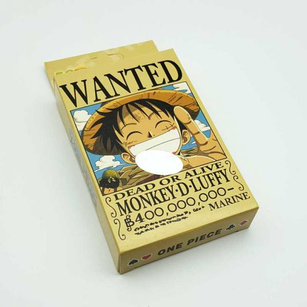 Baraja Poker One Piece Wanted