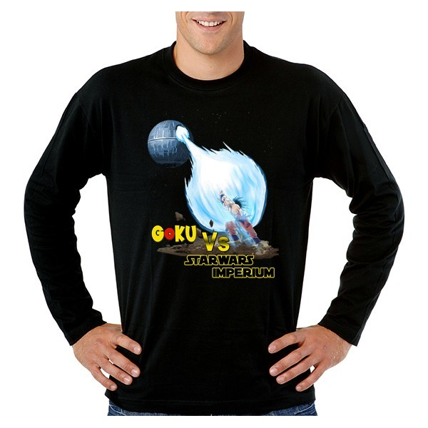Camiseta Dragon Ball manga larga - Goku Vs Star Wars Imperium