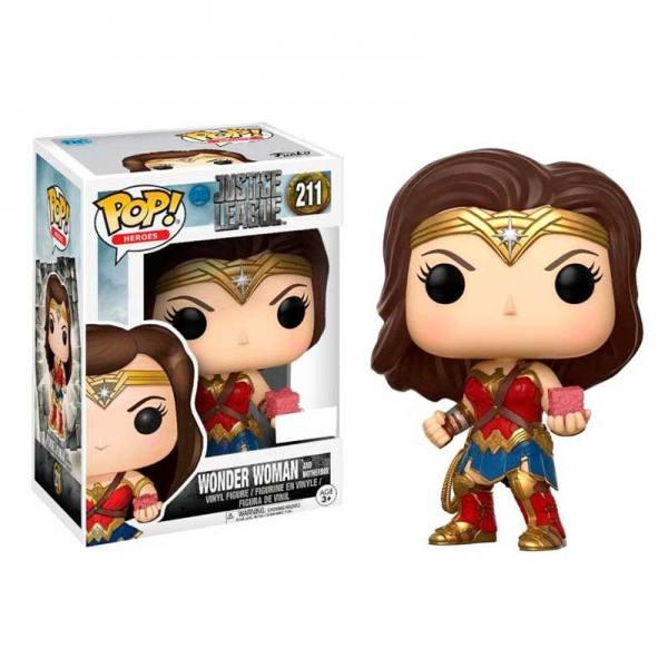 Figura Pop Wonder Woman Mother Box Justice League - Exclusiva