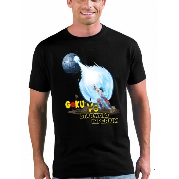 Camiseta Dragon Ball - Goku Vs Star Wars Imperium