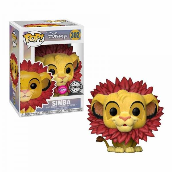 Figura Pop Disney Simba Flocked - Exclusiva