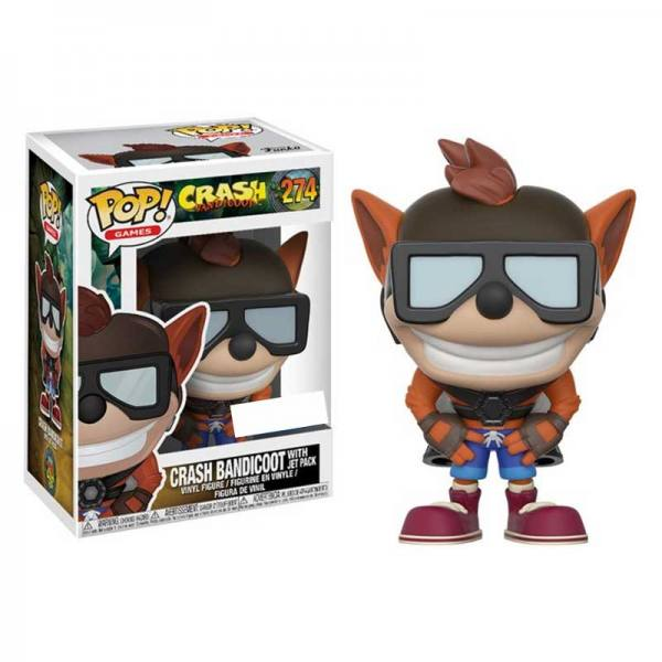 Figura Pop Crash Bandicoot With Jet Pack - Exclusiva