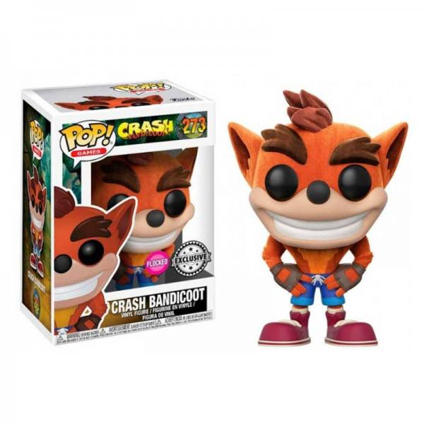 Funko Pop Crash Bandicoot Flocked - Exclusiva