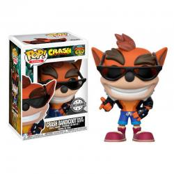 Figura Pop Crash Bandicoot Biker Outfit - Exclusiva