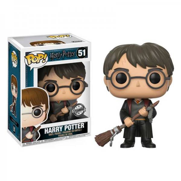 Figura Pop Harry Potter Con Escoba y Pluma