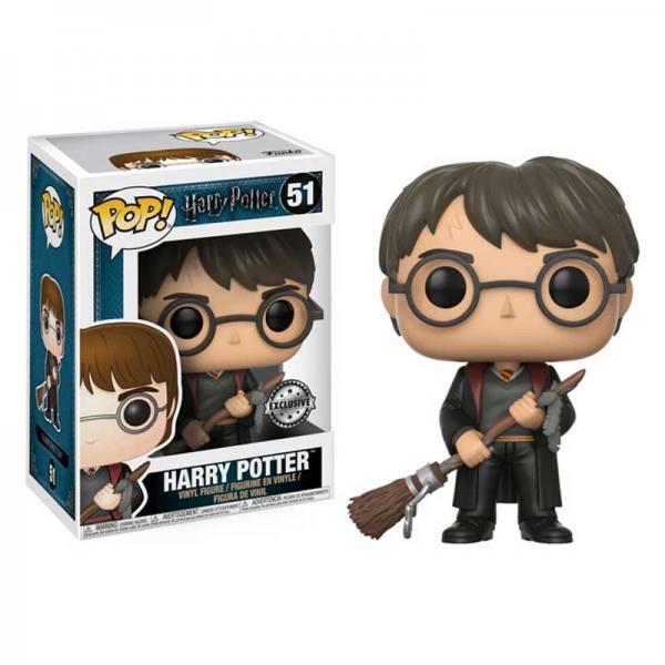 Figura Pop Harry Potter Con Escoba y Pluma