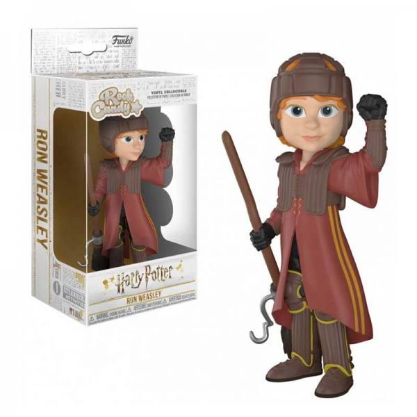 Figura Funko Rock Candy Harry Potter Ron en Uniforme Quidditch