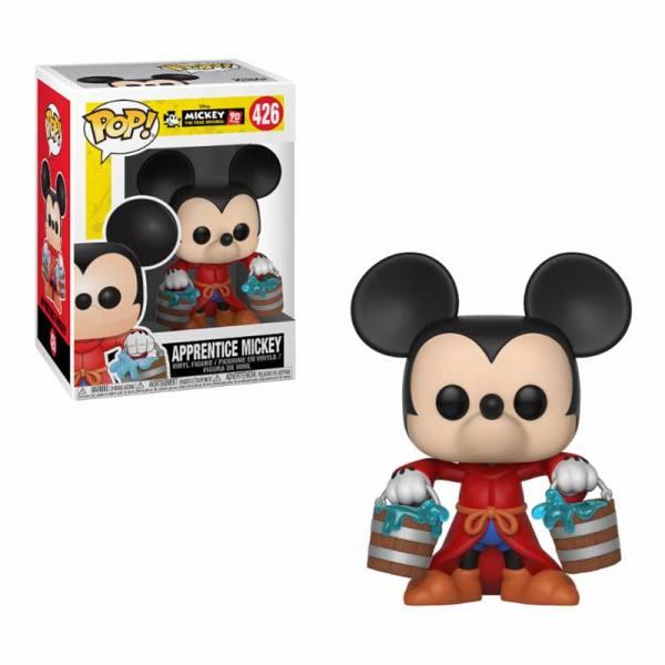 Figura Pop Disney Mickey Mouse 90 Aniversario Apprentice Mickey