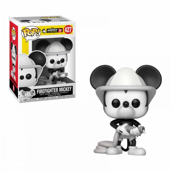 Figura Pop Disney Mickey Mouse 90 Aniversario Firefighter Mickey