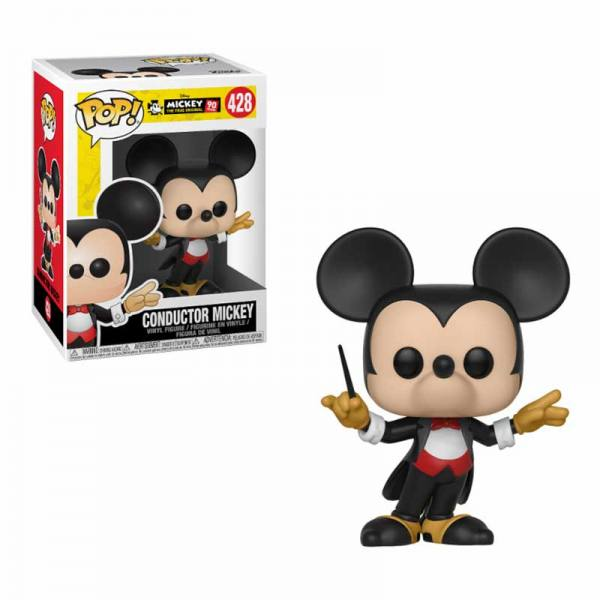 Figura Pop Disney Mickey Mouse 90 Aniversario Conductor Mickey