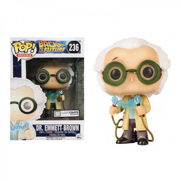 Figura Pop Dr. Emmett Brown Regreso al Futuro - Exclusiva