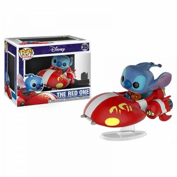 Disney Funko Pop Stitch Rides The Red One - Exclusiva