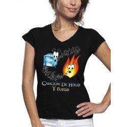 """Camiseta Juego de tronos de mujer """"Canción de Hielo y Fuego"""""""