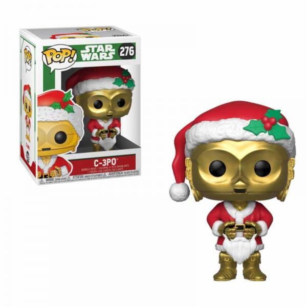 Figura Pop C-3PO Santa - Star Wars Holiday