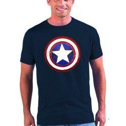 Camiseta Capitan America - Escudo Custom