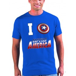 Camiseta Capitan America modelo I Love