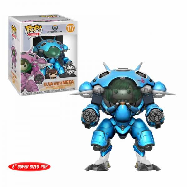 Funko Pop Dva With Meka Blueberry Overwatch Exclusiva
