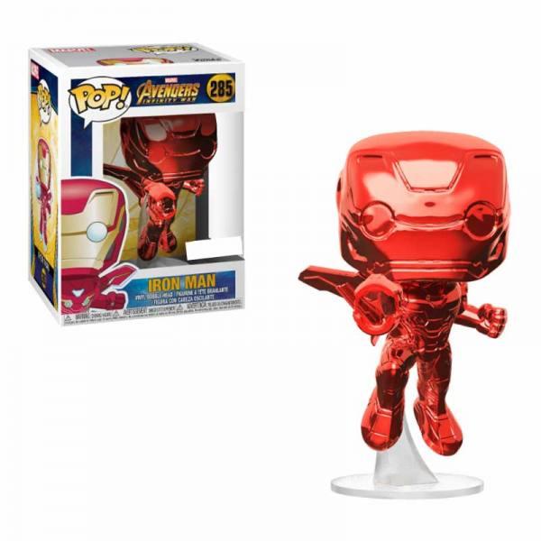 Figura Pop Avengers Infinity War Iron Man Cromado Rojo - Exclusiva
