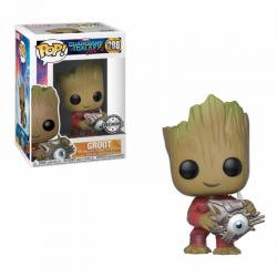 Figura Pop Groot With Cyber Eye - Exclusiva