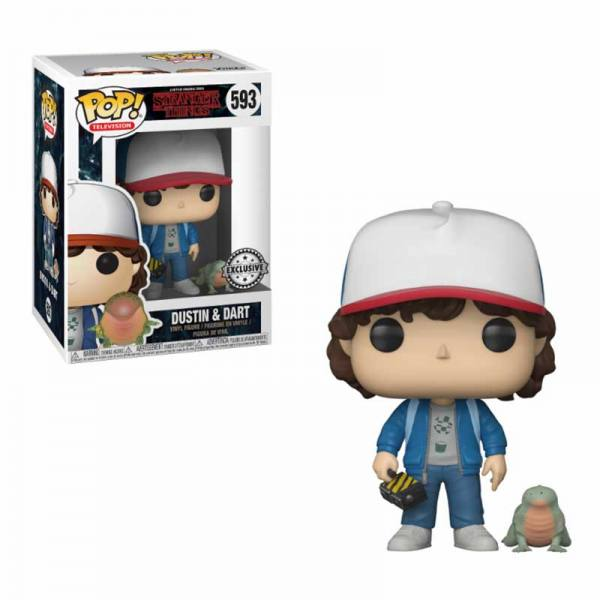 Figura Pop Stranger Things Dustin con Baby Dart - Exclusiva