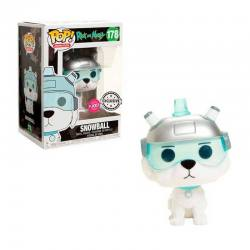 Rick And Morty Figura Pop Snowball Flocked - Exclusiva