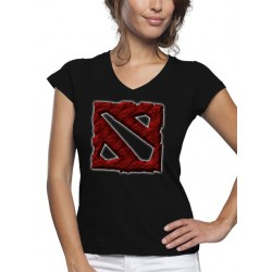 Camiseta Dota 2 logo art de mujer