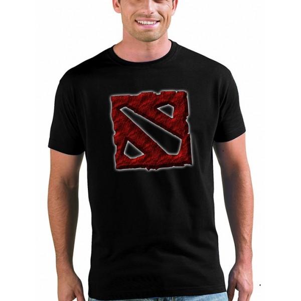 Camiseta Dota 2 logo art manga corta Unisex
