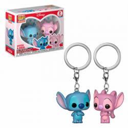 Llaveros Funko Pocket Pop Stitch and Angel - Disney