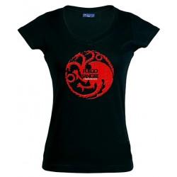 Camiseta Juego de Tronos de mujer casa Targaryen