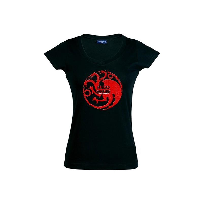 Camiseta juego de tronos de mujer casa targaryen regalosde - Estampar camisetas en casa ...