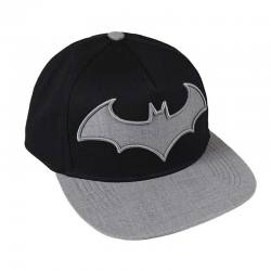 Gorra Batman Visera Plana Gris Adulto