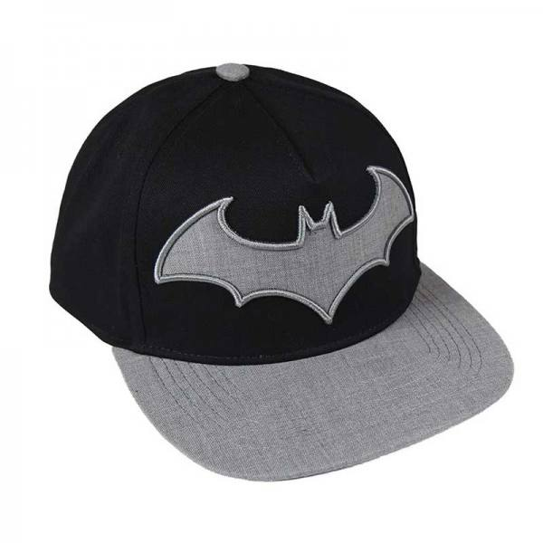 Gorra Batman Visera Plana Gris