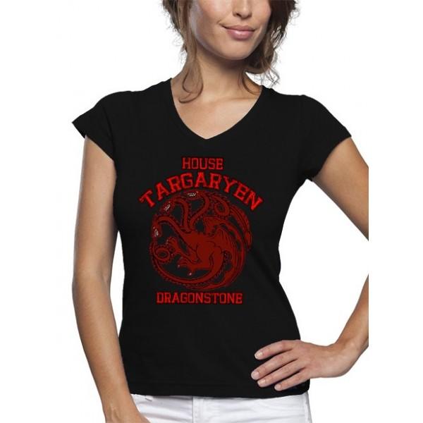 Camiseta mujer, Juego de Tronos Dragonstone casa Targaryen
